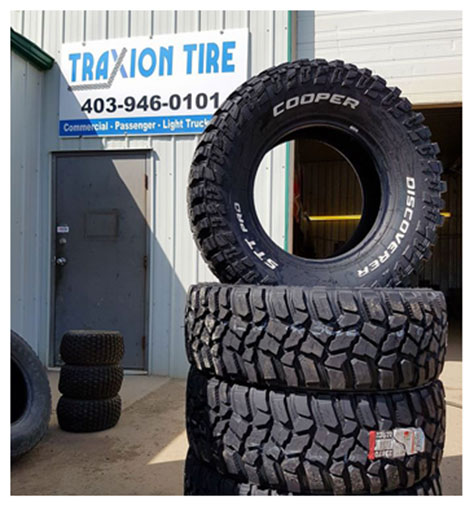 Traxion Tire Shop in Crossfield, AB